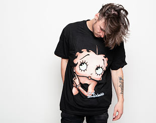 Triko HUF Betty Boop Cigar Club T-Shirt - Black
