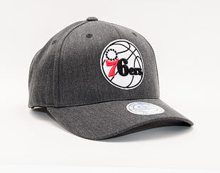 Kšiltovka Mitchell & Ness Philadelphia 76ers Charcoal Heather Team Pop