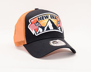 Kšiltovka New Era 9FORTY Trucker USA Patch Navy