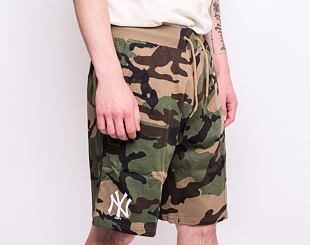 Kraťasy New Era New York Yankees Logo Jersey Shorts Woodland Camo