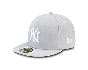Dětská kšiltovka NEW ERA 59FIFTY Kids MLB League Basic New York Yankees Fitted Grey / White