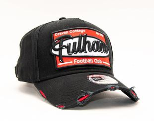 Kšiltovka New Era 9FORTY A-Frame Oversized Patch Fulham FC Snapback Black / Scarlet