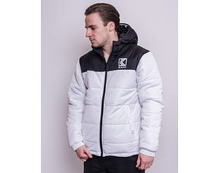 Bunda Karl Kani OG Hooded Block Puffer Jacket White/Black 6076499