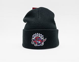Kulich MItchell & Ness Toronto Raptors Team Logo Cuff Knit Black