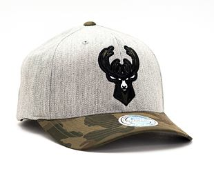 Kšiltovka Mitchell & Ness INTL851 Milwaukee Bucks Heather Camo 110 Snapback