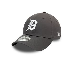 Kšiltovka New Era 39THIRTY MLB League Essential Detroit Tigers Stretch Fit Grey / Optic White