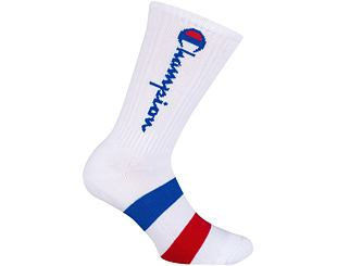 Podkolenky Champion Rochester Crew Socks CH0009LK-9FH White/Blue/Red