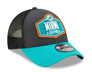 Kšiltovka New Era 9FORTY NFL 21 Draft Miami Dolphins Snapback Heather Grey / Team