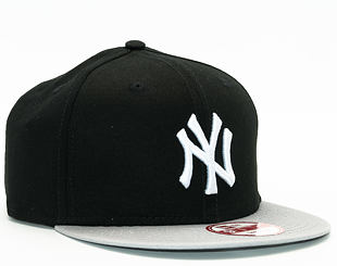Kšiltovka New Era 9FIFTY Cotton Block New York Yankees Snapback Black / Grey