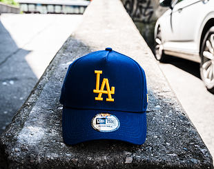 Kšiltovka New Era Team Essential A-Frame Los Angeles Dodgers 9FORTY Dark Royal Snapback