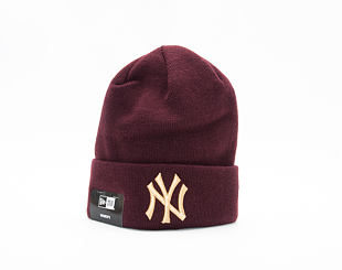 Dámský Kulich New Era Essential Cuff Knit New York Yankees Maroon/Gold