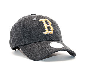 Dámská Kšiltovka New Era Essential Jersey Boston Red Sox 9FORTY Grey Heather/Gold Strapback