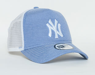 Kšiltovka New Era Oxford A Frame Trucker New York Yankees 9FORTY Sky/White Snapback