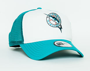Kšiltovka New Era Coast 2 Coast Florida Marlins 9FORTY A-FRAME TRUCKER  Official Team Color