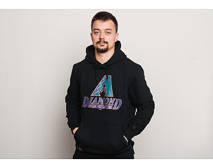 Mikina S Kapucí New Era Coast 2 Coast Po Hoody Arizona Diamondbacks Black
