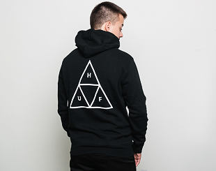 Mikina S Kapucí HUF Hooded Sweatshirt Essentials Triple Triangle Black