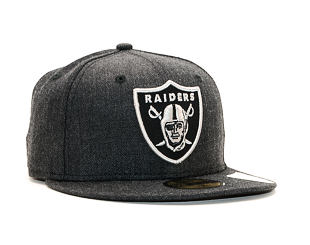 Kšiltovka New Era 59FIFTY Oakland Raiders Heather Black