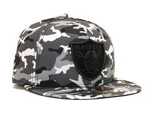 Kšiltovka New Era 59FIFTY Oakland Raiders Camo Black