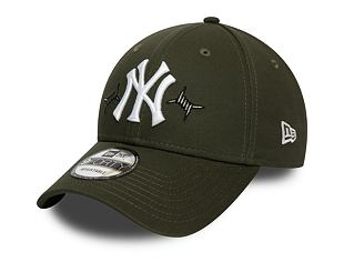 Kšiltovka New Era 9FORTY New York Yankees Twine New Olive