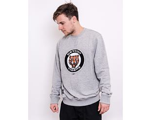 Mikina New Era MLB Cooperstown Crew Fleece Detroit Tigers Heather Gray