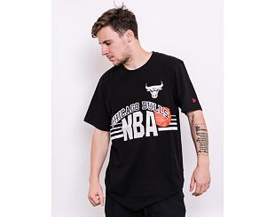 Triko New Era NBA Throw Back Tee Chicago Bulls Black