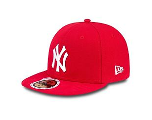 Dětská kšiltovka NEW ERA 59FIFTY Kids MLB League Basic New York Yankees Fitted Scarlet / White