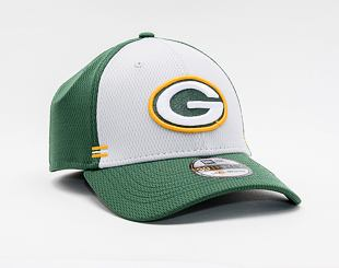 Kšiltovka New Era 39THIRTY NFL20 Sideline Home Green Bay Packers Stretch Fit Team Color