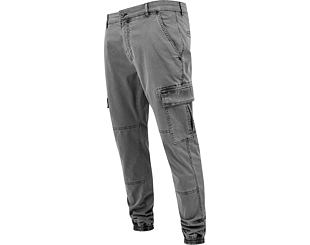 Kalhoty Urban Classic TB1435 Washed Cargo Twill Jogging Pants Grey