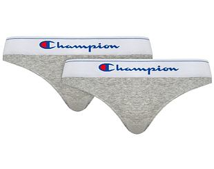 Dámské Kalhotky Champion 2-Pack Classic Brief Light Oxford Heather