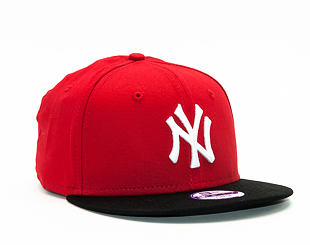 Dětská Kšiltovka New Era Cotton Block New York Yankees Scarlet/Black/White Snapback Youth