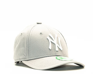 Dětská Kšiltovka New Era League Basic New York Yankees Grey/White Child 9FORTY Strapback