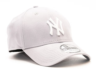 Kšiltovka New Era League Basic New York Yankees Grey/White 39THIRTY Stretchfit