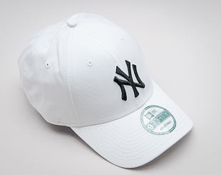 Kšiltovka New Era 9FORTY MLB League Basic New York Yankees Strapback White / Black