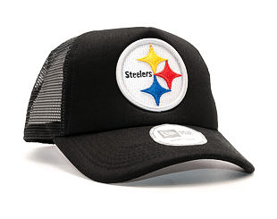 Kšiltovka New Era 9FORTY Trucker NFL Pittsburgh Steelers Black/White Snapback