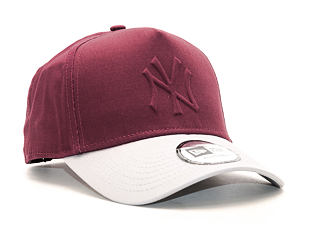 Kšiltovka New Era Gel In Fill New York Yankees Maroon 9FORTY A-FRAME Snapback
