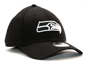 Kšiltovka New Era Monochrome Seattle Seahawks 39THIRTY Black