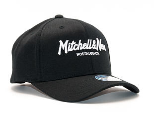 Kšiltovka Mitchell & Ness Pinscript High Crown 110 Black/White Snapback