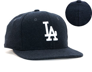 Kšiltovka New Era 9FIFTY Los Angeles Dodgers Original Fit Winter Utility Melton Navy/White Snapback