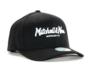 Kšiltovka Mitchell & Ness Script High Crown Black Snapback 110