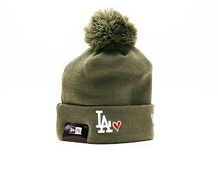 Kulich New Era Heart Knit Los Angeles Dodgers New Olive