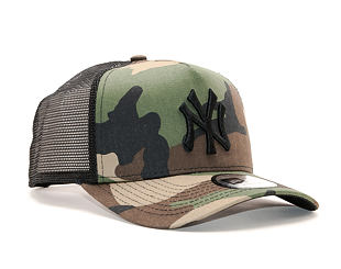 Kšiltovka New Era Clean Trucker New York Yankees Snapback Woodland Camo / Black