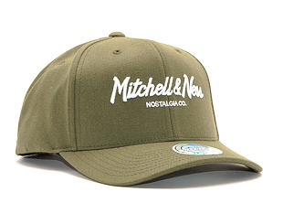 Kšiltovka Mitchell & Ness Pinscript High Crown 110 Flex-Snap Olive/White Snapback
