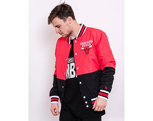 Bunda New Era NBA Bomber Chicago Bulls Front Door Red