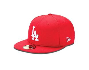 Kšiltovka New Era 59FIFTY MLB Basic Los Angeles Dodgers Fitted Scarlet / White