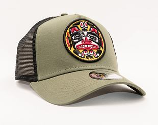 Kšiltovka New Era 9FORTY A-Frame Trucker tattoo pack Snapback New Olive