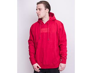 Mikina Karl Kani Small Signature Box Hoodie Dark Red 6093157