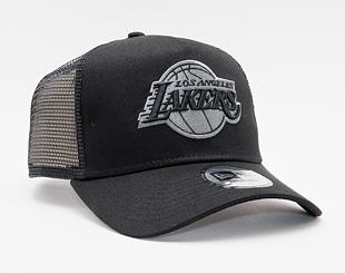 Kšiltovka New Era 9FORTY A-Frame Trucker NBA Bob Team Logo Los Angeles Lakers Snapback Black / Black