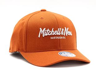 Kšiltovka Mitchell & Ness Pinscript High Crown 110 Burnt Orange / Silver Grey Snapback