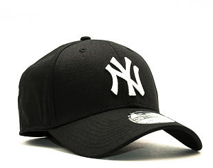 Kšiltovka New Era League Basic New York Yankees Black/White 39THIRTY Stretchfit