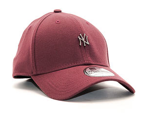 Kšiltovka New Era Metal Mini Logo New York Yankees Maroon 39THIRTY Stretchfit